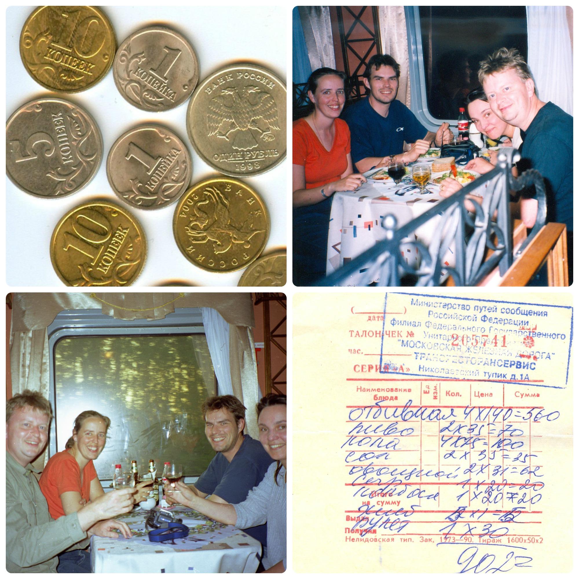 Dineren in de Trans Mongolië Express